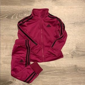 Toddler girls Adidas track suit
